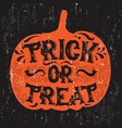 halloween quote typographical background made in vector image