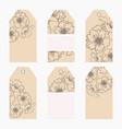hand drawn creative tags vector image vector image