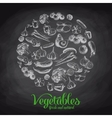 Hand drawn with vegetables vector image vector image