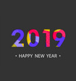happy new year 2019 background with cartoon effect vector image