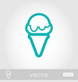ice cream outline icon summer vacation vector image vector image