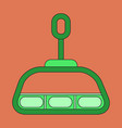 icon in flat design cabin ski lift vector image vector image