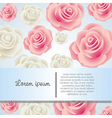 Invitation card with colorful roses vector image vector image