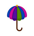 isolated beach umbrella icon vector image vector image