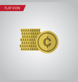 isolated coin flat icon cash element can vector image