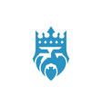 king head logo design template vector image