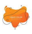 liquid background vector image