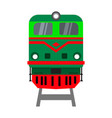 locomotive front view vector image