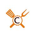 logo restaurant letter c vector image vector image