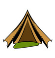 Military tent icon cartoon vector image