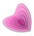 modern paper cut heart vector image