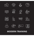 modern training editable line icons set on vector image vector image