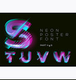 neon typeset shining trendy letters fluorescent vector image vector image