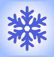 new year blue snowflake winter icon vector image