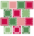 nordic square labels vector image vector image