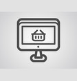 online shop icon sign symbol vector image