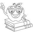 outlined smart apple vector image vector image