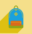 picture of a backpack icon vector image
