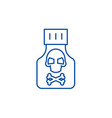 poison line icon concept poison flat vector image vector image