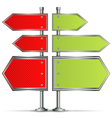 Pole with Road Signs vector image