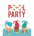 pool party enjoy icon vector image