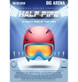 Poster Template of Winter Games vector image vector image