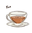 printable isolated cup of vector image