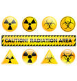 radiation set vector image
