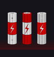 realistic aa type battery set vector image