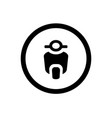 scooter icon and circle outline motorcycle logo vector image vector image