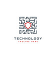 security technology logo design inspiration vector image