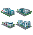 Set of perspective community building vector image