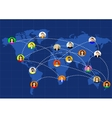 social networks unite the world vector image