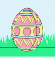 spotted easter egg continuous line vector image vector image