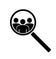 the search icon vector image
