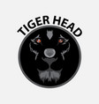 tiger head logo design template vector image vector image