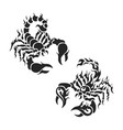 variety tribal scorpion set vector image vector image