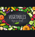 vegetables frame healthy food vector image vector image