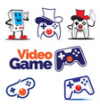 video games theme set volume 1 vector image vector image