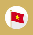 vietnam national flag flat icon vector image