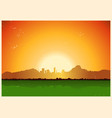 Vintage city in mountains landscape vector image
