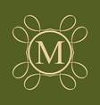 vintage ornamental monogram vector image vector image