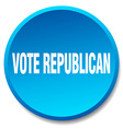 vote republican blue round flat isolated push vector image vector image