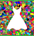 woman dress sign white icon on colorful vector image