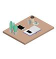 workplace elements isometrics icons vector image