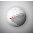 Golf Ball Abstract Background I Love Golf vector image
