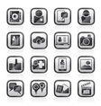 Social media network and internet icons vector image