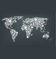 design of a dots map of the world abstract world vector image