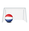 A ball with the flag of Netherlands vector image vector image