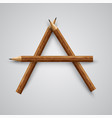 a letter made by pencil vector image vector image